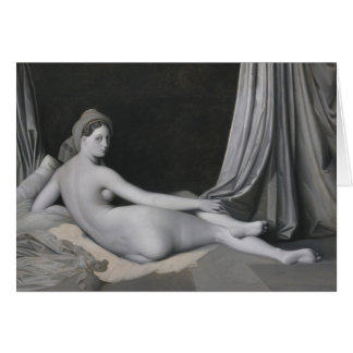 Odalisque in Grisaille Card