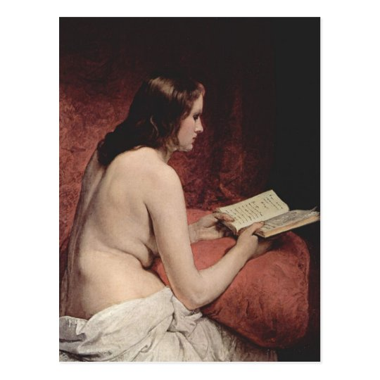 Odalisque with Book Postcard
