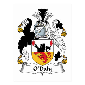 O'Daly Family Crest Postcard