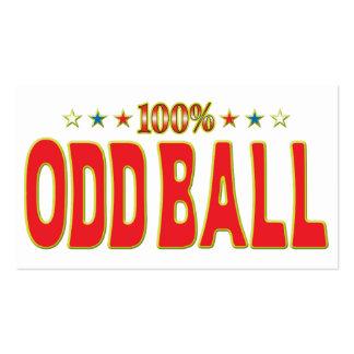 Odd Ball Star Tag Business Card Templates