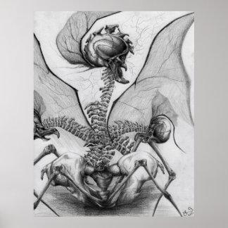 Odd Bone Fellow Horror Monster Art Poster