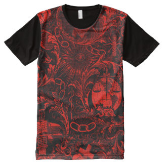 Odd Fellows Emblematic Tapestry Shirt All-Over Print T-Shirt