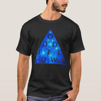 ODD FELLOWS Geometric Galaxy Design T-Shirt