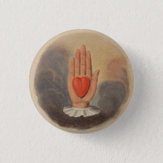 Odd Fellows Heart in Hand Button