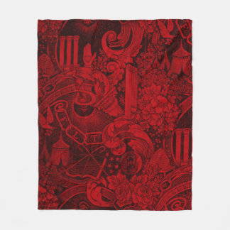 Odd Fellows Woven Tapestry version 2 Fleece Blanket