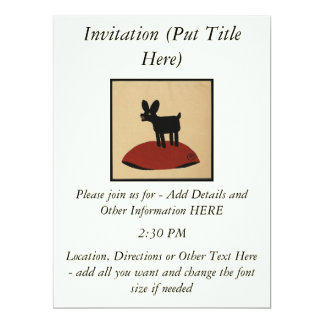 Odd Funny Looking Dog - Colorful Book Illustration 17 Cm X 22 Cm Invitation Card