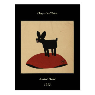 Odd Funny Looking Dog - Colorful Book Illustration Post Cards