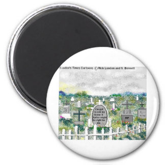 Odd Headstones Funny Cartoon Gifts & Collectibles 6 Cm Round Magnet