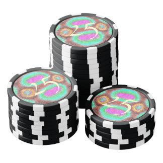 Odd multicolored pattern poker chips