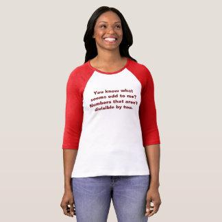 Odd Numbers Math Pun Math Teacher Tshirt