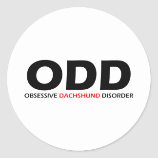 ODD - Obsessive Dachshund Disorder Classic Round Sticker
