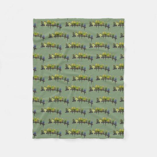Odd One Out Fleece Blanket (Green)