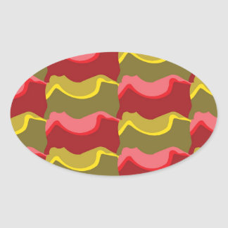 Odd Pattern Oval Sticker
