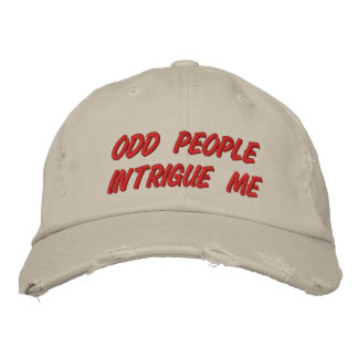 ODD PEOPLE EMBROIDERED HAT