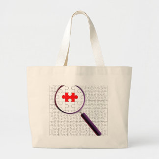 Odd Piece Magnifying Glass Large Tote Bag