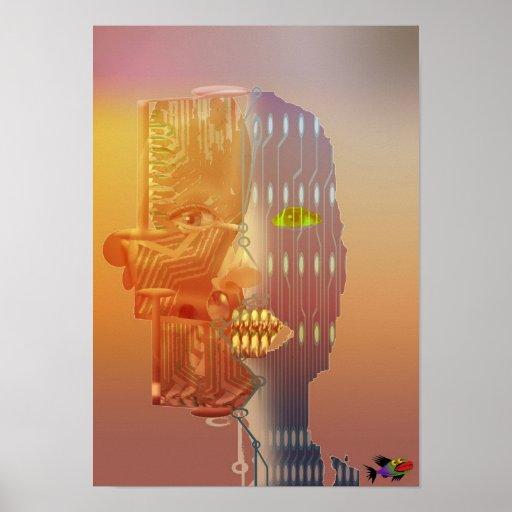 Odd shaped robot poster