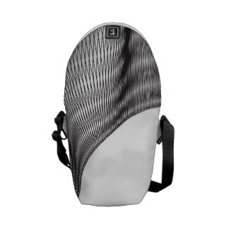 Odd Wavy Bends b and w Commuter Bags
