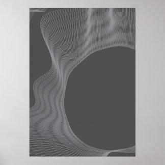Odd Wavy Bends dark grey Posters