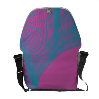 Odd Wavy Bends magenta blues Commuter Bag