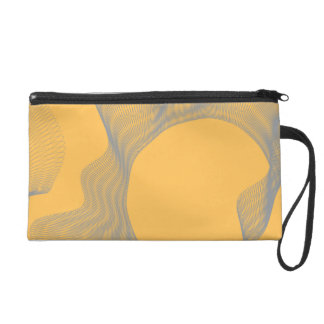 Odd Wavy Bends orange Wristlet Clutches