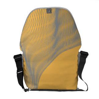 Odd Wavy Bends orange Courier Bags