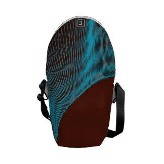 Odd Wavy Bends red blue Commuter Bag