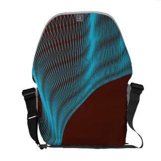Odd Wavy Bends red blue Messenger Bags