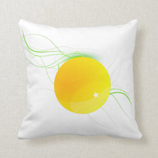 Odd Yellow Dot American MoJo Pillow Throw Cushion