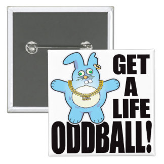 Oddball Bad Bun Life 15 Cm Square Badge