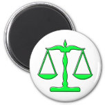 oddRex scales of justice 6 Cm Round Magnet