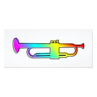 oddRex trumpet 10 Cm X 24 Cm Invitation Card