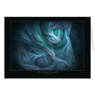 Oddyssy In Blue Greeting Card