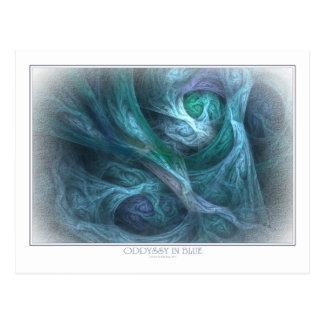 Oddyssy In Blue Postcard