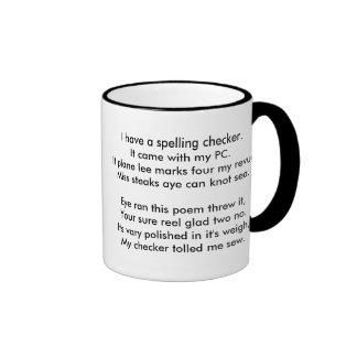 Ode to a Spell Checker Ringer Mug