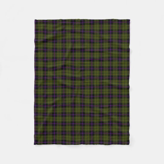 Odee army green plaid black purple stripe fleece
