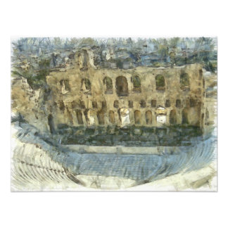 Odeon of Herodes Atticus in Athens Photographic Print