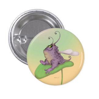 ODILE FUNNY ALIEN MONSTER Round Button