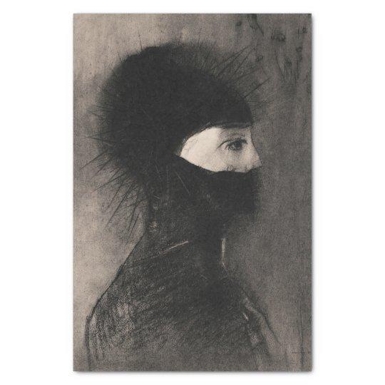 Odilon Redon. Armour. Woman face. Symbolism Tissue Paper