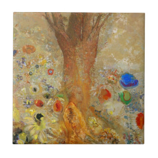 Odilon Redon Buddha In His Youth Small Square Tile