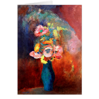 Odilon Redon - Ethereal Vase of Flowers Card
