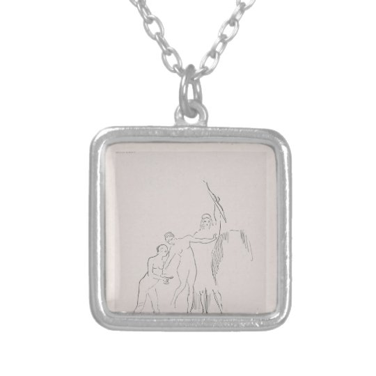 Odilon Redon- Immediately three goddesses arise Silver Plated Necklace