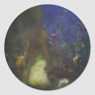 Odilon Redon- Roger and Angelica Round Sticker