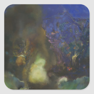Odilon Redon- Roger and Angelica Sticker