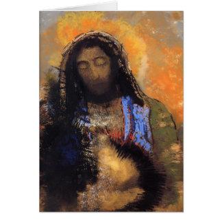 Odilon Redon- Sacred Heart Card