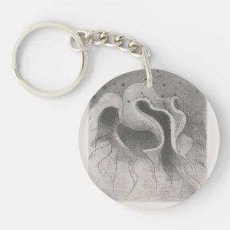 Odilon Redon- The beasts of the sea Single-Sided Round Acrylic Keychain