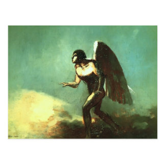 Odilon Redon- The Winged Man The Fallen Angel Post Card