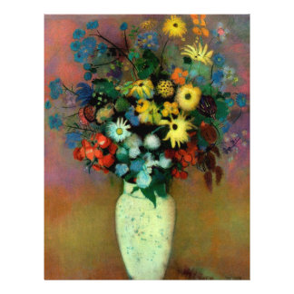 Odilon Redon's Vase with Flowers (1914) 21.5 Cm X 28 Cm Flyer