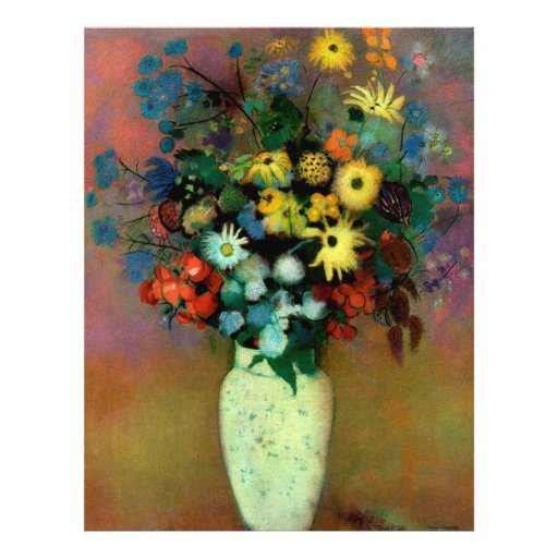 Odilon Redon's Vase with Flowers (1914) 21.5 Cm X 28 Cm Flyer