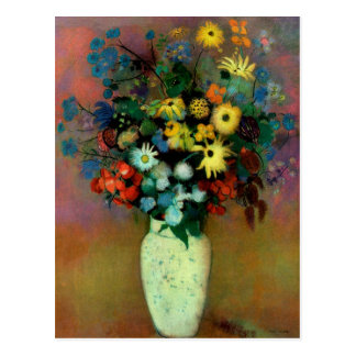 Odilon Redon's Vase with Flowers (1914) Postcard