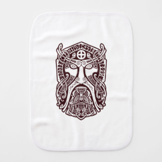 Odin face burp cloth